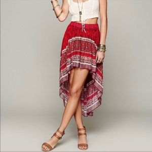 Free people high low skirt